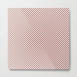 Apple Blossom Polka Dots Metal Print
