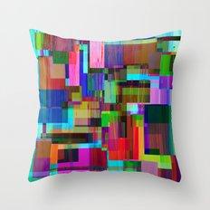 Cubist Candy Throw Pillow