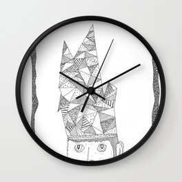hat of triangles Wall Clock