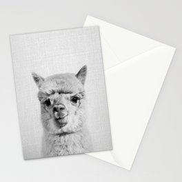 Alpaca - Black & White Stationery Cards