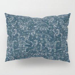 dinosaur constellations on midnight blue sky Pillow Sham