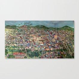 Map of Scranton Mural Print Canvas Print