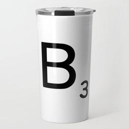Letter B - Custom Scrabble Letter Wall Art - Scrabble B Travel Mug