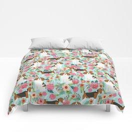 Beagle Floral dog design cute florals beagle phone case beagle pillows Comforters
