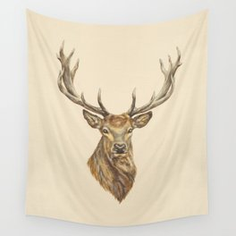 Red Stag Wall Tapestry
