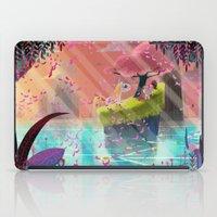 unicorns iPad Cases featuring Unicorns by David Pavon