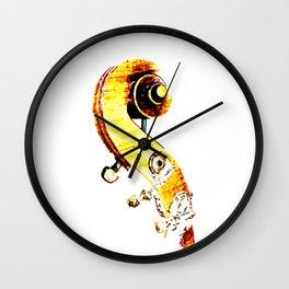 Jazz Contrabass Neck Wall Clock