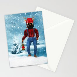 Red Nose Cousin LARRY Santa's Reindeer Stationery Cards