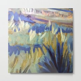 Dreamy Abstract Flowers Painting Metal Print