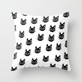 Black Kittens Throw Pillow