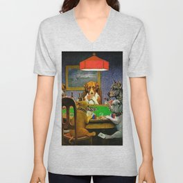 A FRIEND IN NEED - C.M. COOLIDGE Unisex V-Neck