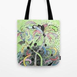 Palm Tree Hurricane Tote Bag