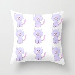 Cute Kitty Throw Pillow