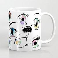 manga Mugs featuring Manga Eyes by TAEMI.