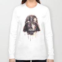 darth vader Long Sleeve T-shirts featuring Darth Vader by beart24