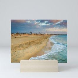Clouds over Seal Beach Mini Art Print