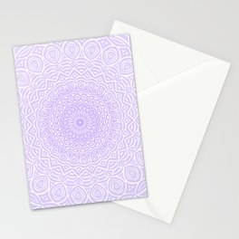 Purple Violet Mandala Design Extra Detailed Geometric Ethnic Tribal Pattern Stationery Cards
