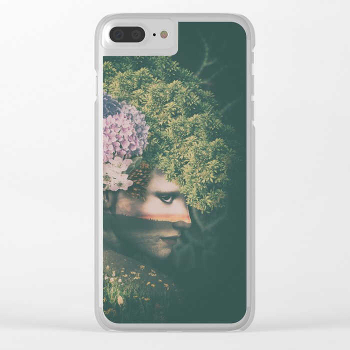 Mother Nature Clear iPhone Case