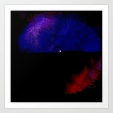 Moon Paint Art Print