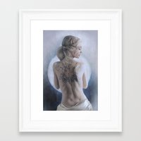 beth hoeckel Framed Art Prints featuring Beth  by Nikita Jobson