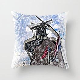 WindMill Haarlem Throw Pillow