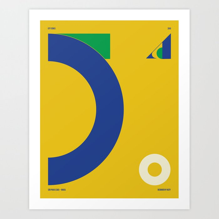 São Paulo — City Series Art Print