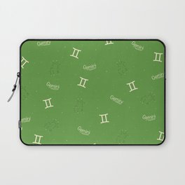 Gemini Pattern - Green Laptop Sleeve