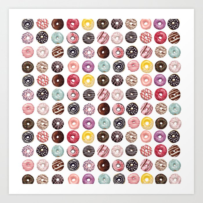 donuts Kunstdrucke