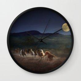 Moonlight Run Wall Clock