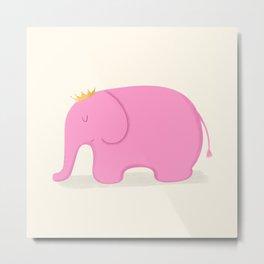 Queen Pink Elephant Metal Print