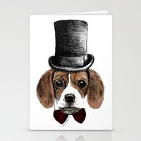 beagle Stationery Cards featuring Beagle by bylosangeles