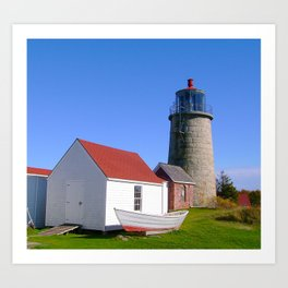 Monhegan Island Lighthouse  Art Print
