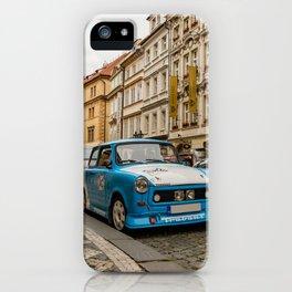 Trabant on the street of Prague iPhone Case