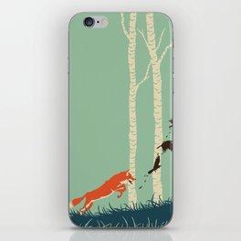 Fox Chasing Birds iPhone Skin