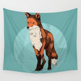 Ice Fox  Wall Tapestry