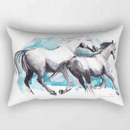 Horses (Mom&kid) Rectangular Pillow