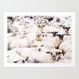 The Herd #watercolor #wildlife Art Print