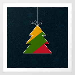 Celebratory tree Art Print