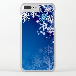 Snowflake background Clear iPhone Case