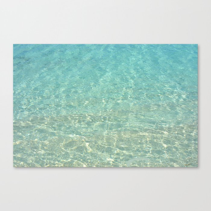 Colors of the Sea Water - Clear Turquoise Leinwanddruck