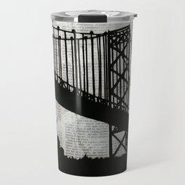 News Feed , Newspaper Bridge Collage Travel Mug