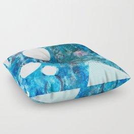 Abstract Art Blue Floor Pillow