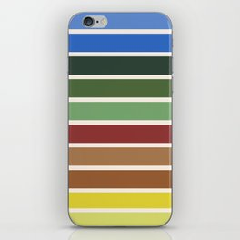 The colors of - Castle in the sky iPhone Skin