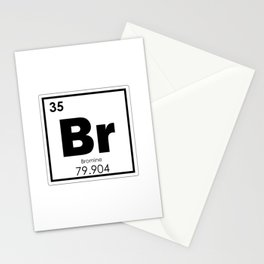 Bromine chemical element Stationery Cards
