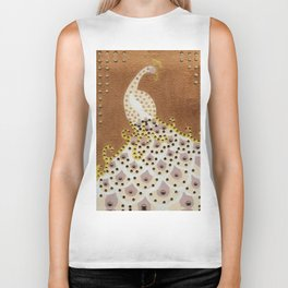 Peacock in Bronze Biker Tank