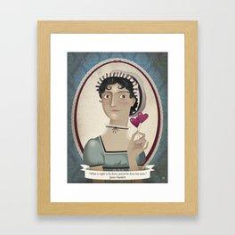 Jane Austen said... Framed Art Print