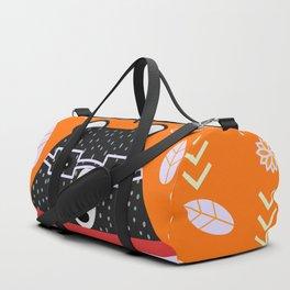 Bear in floral rain Duffle Bag