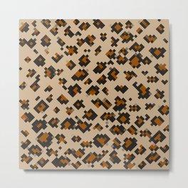 Pixelated Leopard Metal Print