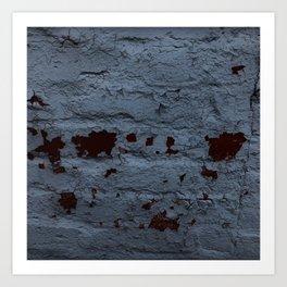 Textured Brick Blue Art Print