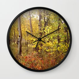 You Can Just Hear the Breeze Through the Trees  Wall Clock
